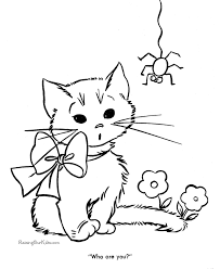 Nice Kittens Coloring Pages Top Books Gallery Ideas