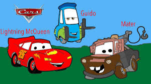 Disney Cars Mater Guido Lightning McQueen Coloring Page Activity For Kids Toddlers And Children