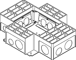 rfb4 series four compartment box with four duplex receptacle