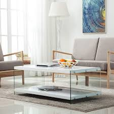 100 Living Room Table Modern Amazoncom LAGRIMA Coffee W 2 TiresGloss White