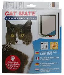 Pet Doors For Patio Screen Doors by Amazon Com Cat Mate 4 Way Locking Cat Flap White Pet Doors