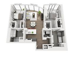 104 Two Bedroom Apartment Design Small Floor Plan 2