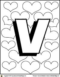 Letter V Worksheets Coloring Page