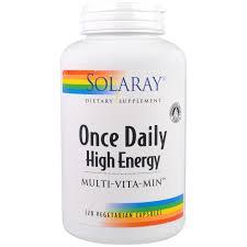 Solaray ce Daily High Energy Multi Vita Min 120 Ve arian