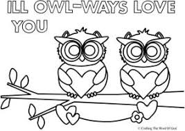 Ill Owl Ways Love You Coloring Page