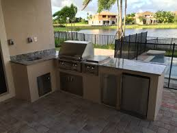 L Shaped Outdoor Kitchen Inspirations Custom By The Bbq Pictures