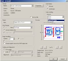 It Is Possible To Print A Color DWF File In Black And White This Available The Dialog Click Image Below Enlarge