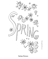 Beautiful Spring Printable Coloring Pages 91 About Remodel Print With