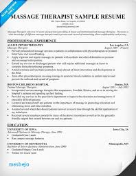 Massage Therapist Resume Example Template Best How To Do A Good Examples