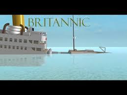 roblox britannic sinking youtube