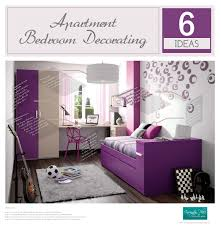 Apartment Bedroom Decorating 6 Ideas Infographic