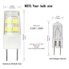 g8 led bulb 110v 2 5w equivalent 25w g8 halogen l cool white