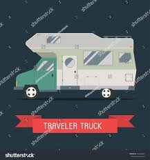 100 Truck Camper Camping RV Trailer Family Caravan Traveler Stock Vector Royalty