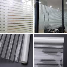 2PCs 2m Frost Privacy Window Film Static Striped Glass Self Adhesive