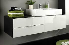 details zu waschbecken unterschrank bad schrank weiß hochglanz grau waschtisch möbel
