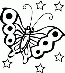 Chic Idea Coloring Pages For Kids To Print Free Printable Butterfly