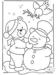 Preschool Winter Coloring Pages
