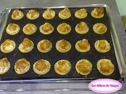 mini quiche pate feuilletee petites tourtes aperitives au noix de jacques les délices