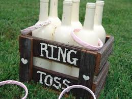 15 Ways To Decorate Your Wedding With Wine Bottles Rustic GamesRustic Outside WeddingBackyard DecorationsDiy