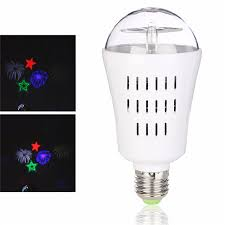 e27 4w fireworks led rotating projector l led stage light bulb