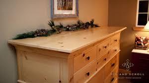 rustic pine bedroom set large knotty pine dresser 01jpg country
