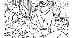 Daniel And The Lions Den Coloring Pages With Regard To Inspire