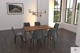 eleganter tisch aus eichenholz ins esszimmer wohnzimmer nesca ii