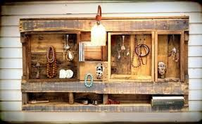 Even A Pallet Can Be Great Jewelry Display Item Cool Idea To Reuse