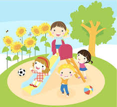 Clip Art Playground Kids Playing On 2 Station Throughout