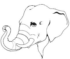 Elephant Head Outline