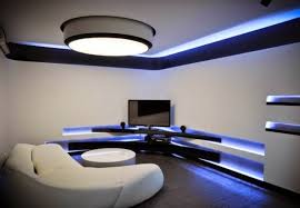stunning false ceiling led lights and wall lighting for living