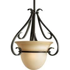 progress lighting 1 light venetian bronze led pendant with