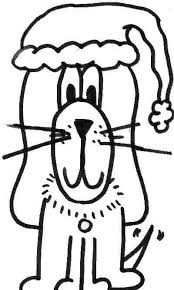 Cat Coloring Page Christmas Dog