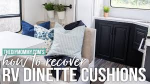 15 Rv Jackknife Sofa Cover by How To Recover Rv Dinette Cushions Our Diy Camper Youtube
