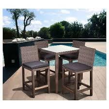 wicker bar height patio set patio bar height furniture target