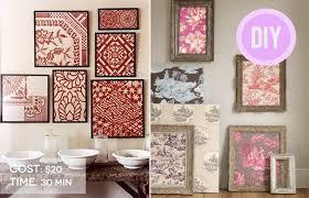 Frame Fabric Wall Art Diy Fabrics In Your Home Pinterest Framed