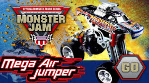 100 Monster Jam Toy Truck Videos Mega Air Jumper Kidz Games Youtube With Hot Wheels