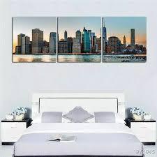 wohnkultur große bilder hause wohnzimmer wand kunst manhattan stadtbild leinwand druck new york skyline hudson river poster keine rahmen