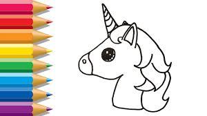Maxresdefault Unicorn Emoji Coloring Page