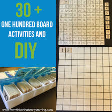 40 one hundred board activities diy montessori 100 board and