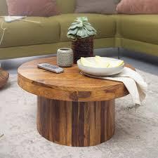 wohnling couchtisch 60x30x60 cm sheesham massivholz sofatisch design wohnzimmertisch rund stubentisch kaffeetisch braun tisch wohnzimmer