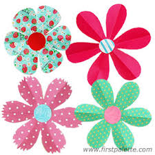 Folding Paper Flowers Craft 6 Petal More Flower Instructions