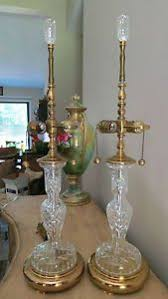 Crystal Glass Lamp Finials by Reduced Price Large Vintage Waterford Lamps 37