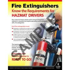 Fire Extinguishers - Hazmat Transportation Poster