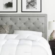 Skyline Tufted Wingback Headboard King by Skyline Furniture King Tufted Headboard In Linen Grey 793klnngr