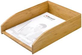 Desktop File Sorter Uk by Rexel Bamboo Letter Tray Natural 100 Recyclable Sustainable