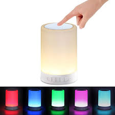 polaroid bluetooth touch speaker with 7 led light effects