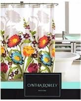 winter sale cynthia rowley fabric shower curtain turkish tile
