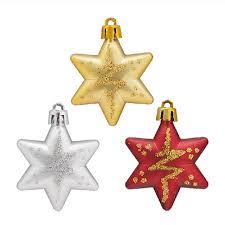 5 Stars Box Fancy Bling Christmas Tree Star Ornaments XMAS Topper