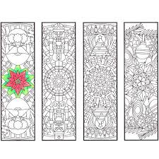 Christmas Mandala Adult Coloring Bookmarks Printable PDF By Candy Hippie Candyhippie